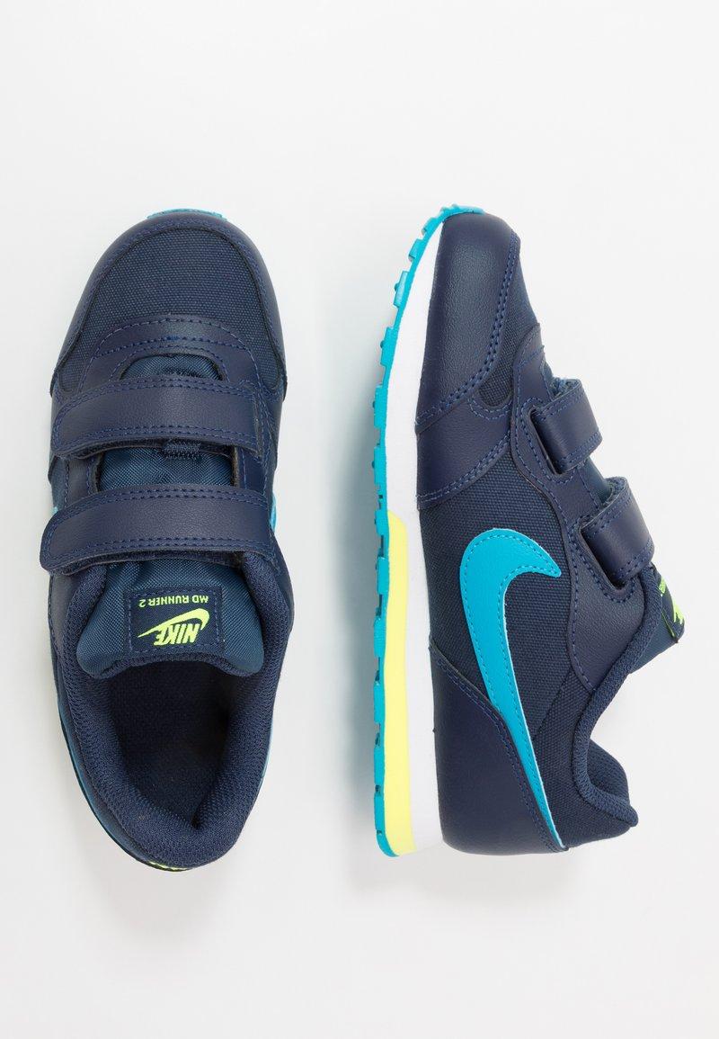 Nike Sportswear - MD RUNNER 2 BPV - Trainers - midnight navy/laser blue/lemon/white