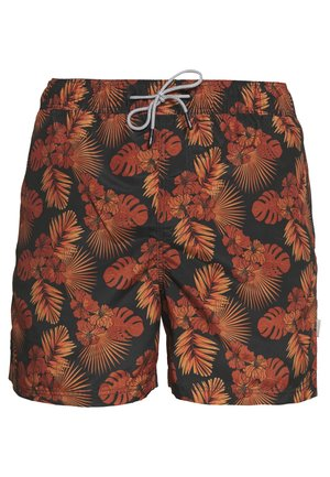 JJIARUBA AKM FLOWER - Swimming shorts - phantom