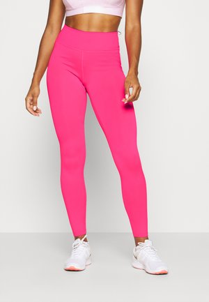 ONE - Leggings - hyper pink/white
