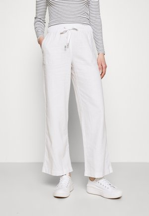 WIDE LEG - Bukse - white