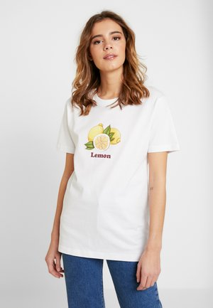 LADIES LEMON TEE - T-shirts med print - white