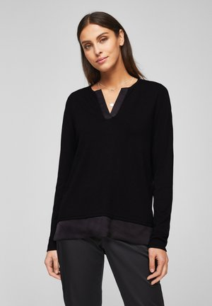 MIT SATIN-BLENDE - Jumper - black