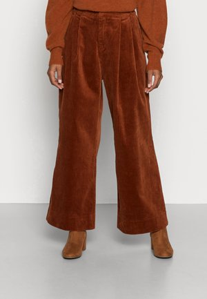 ORGANIC CORDUROY - Trousers - ginger bread
