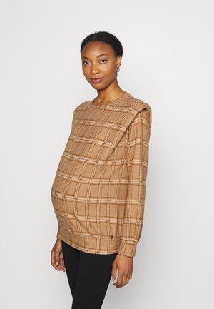 SHOULDERPADS CHECKED - Sweatshirt - brown