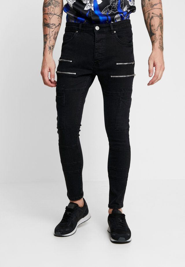 LORTON - Jeans Skinny Fit - charcoal wash