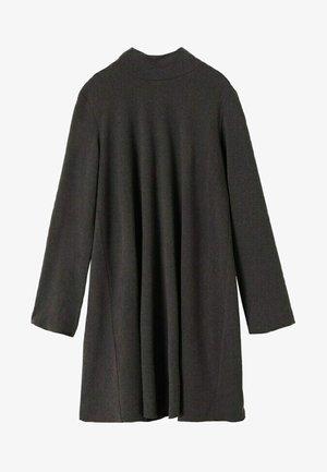 EMMA - Gebreide jurk - dark heather grey