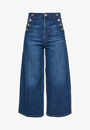 JUPE CULOTTE - Flared Jeans - blue