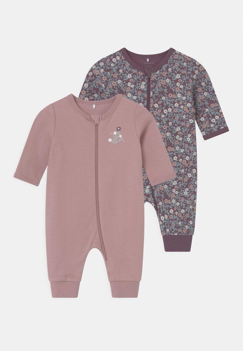 Name it - NBFNIGHTSUIT 2 PACK - Pyjamas - black plum