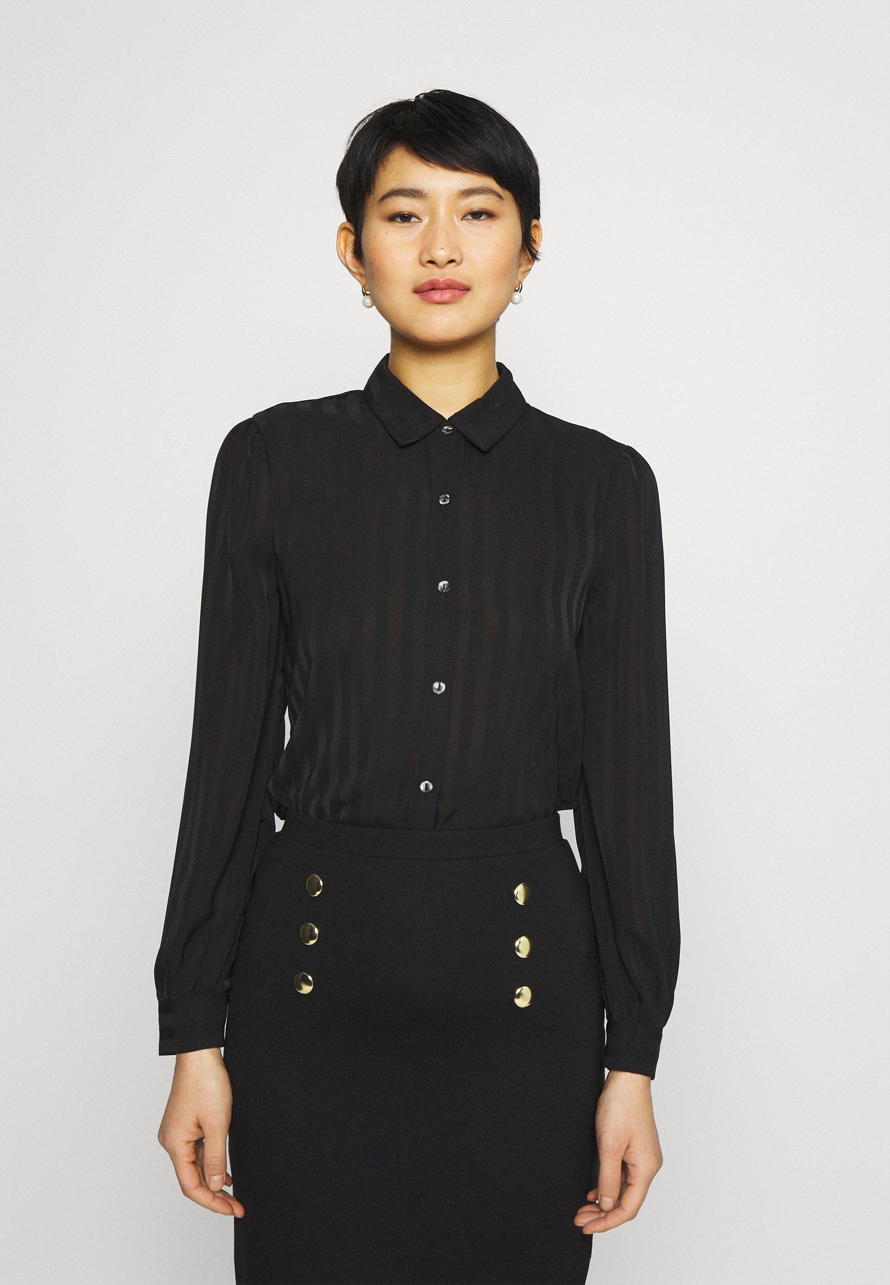 Women Semi sheer blouse - Button-down blouse