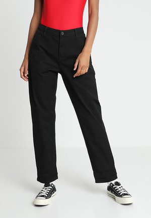 PIERCE PANT - Tygbyxor - black rinsed