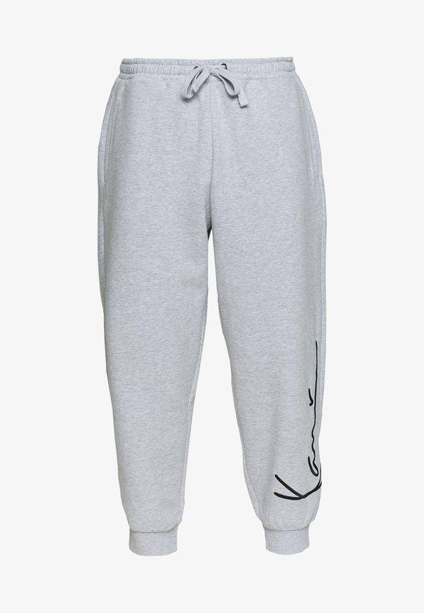 Karl Kani SIGNATURE RETRO - Spodnie treningowe - grey/black/szary Odzież Męska RTQH