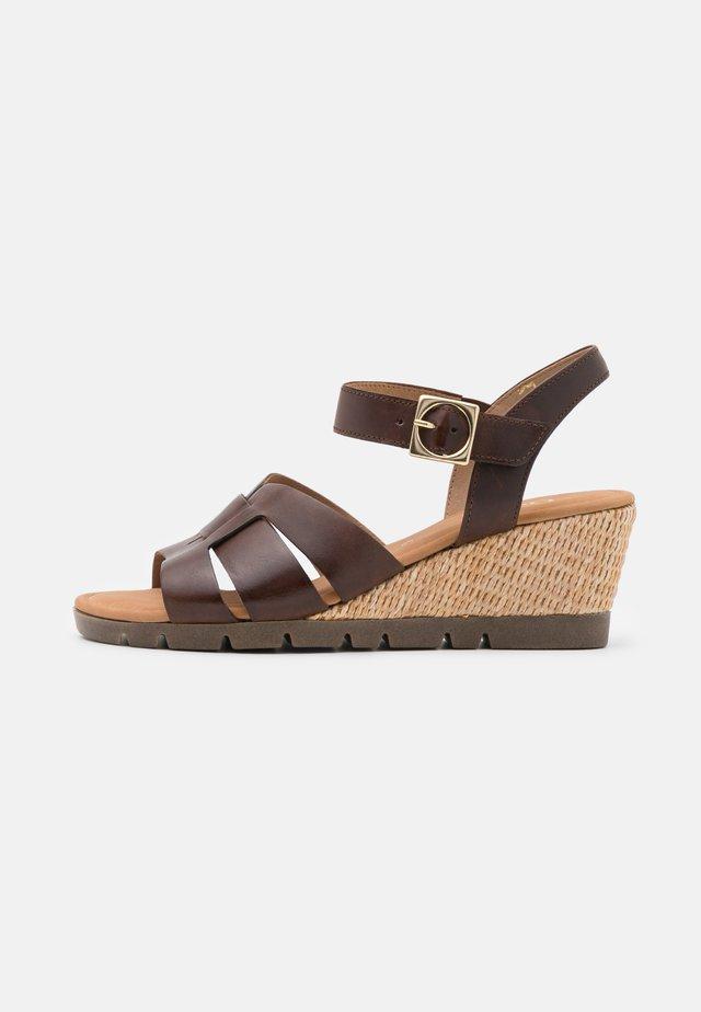 Sandalen met sleehak - sattel