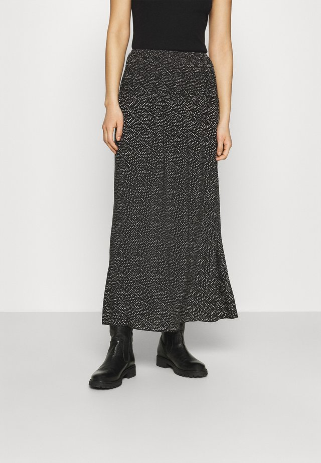 OLGA SKIRT - Maxi sukně - black