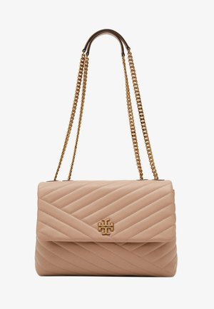 KIRA CHEVRON CONVERTIBLE SHOULDER BAG - Handtasche - devon sand
