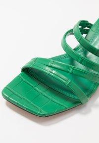 Topshop - DIXIE MULE - Heeled mules - green - 2