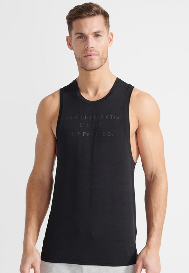 Superdry - SPORT TRAINING BOOTCAMP DROPPED - Top - black