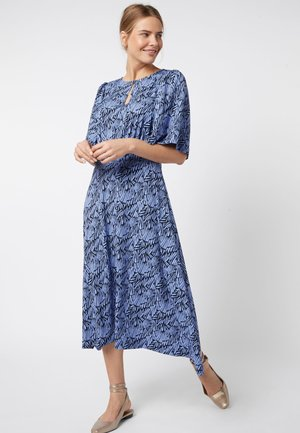 BLUE SLEEVE MIDI DRESS - Hverdagskjoler - blue