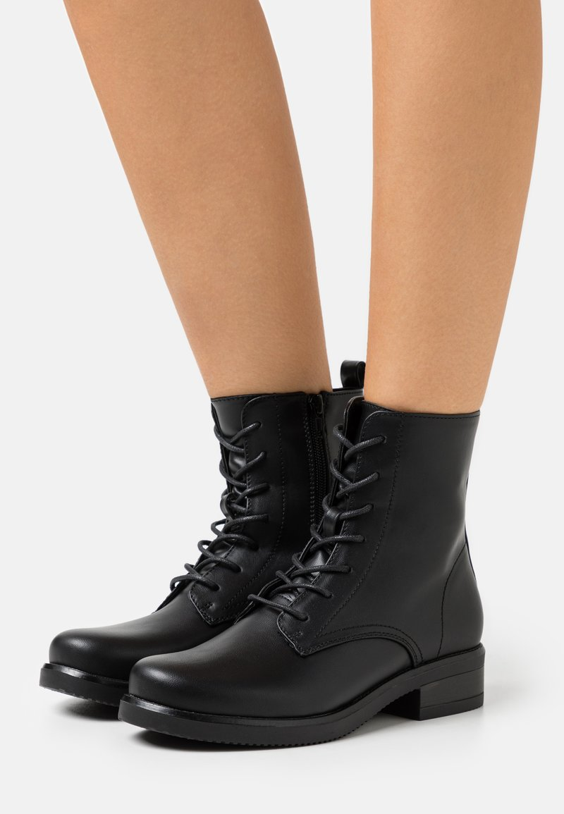 Anna Field Wide Fit - Lace-up ankle boots - black