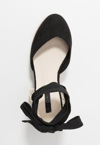 Lost Ink - ANKLE WRAP WEDGE  - High heeled sandals - black - 3