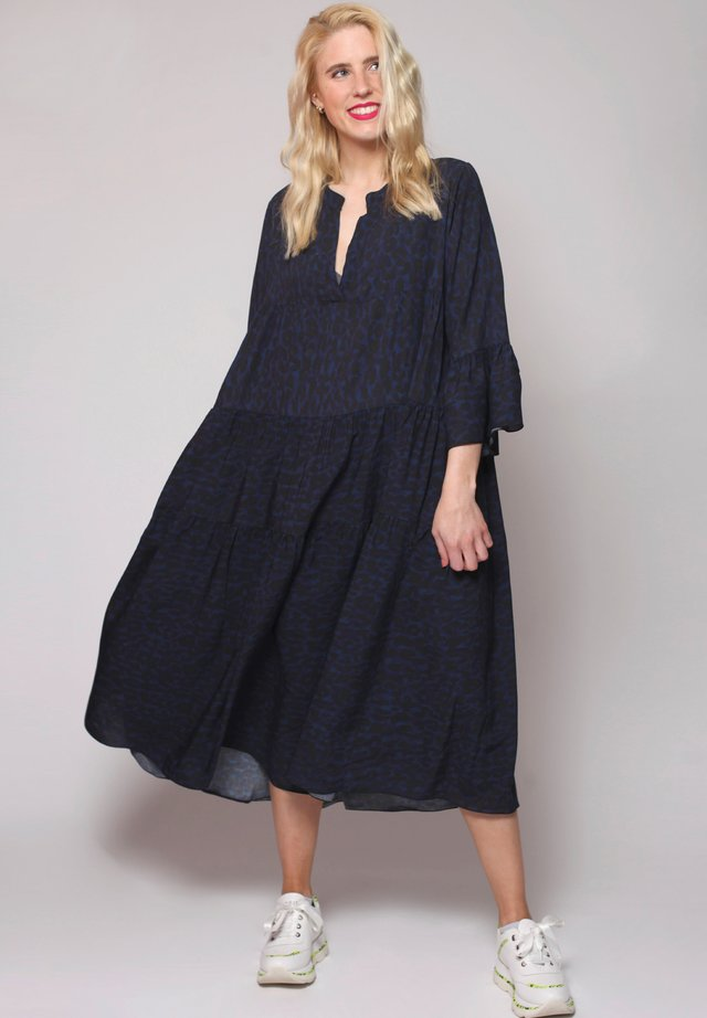 Korte jurk - blau/schwarz