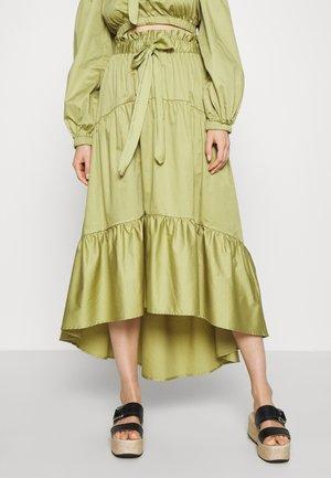 TIERED TIE WAIST SKIRT - A-line skirt - cedar