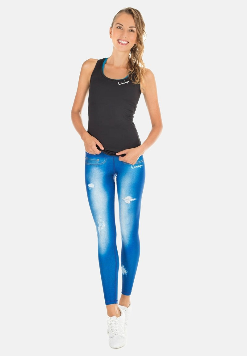 Winshape - HWL102 INDIGO-BLUE HIGH WAIST -TIGHTS - Leggings - ocean blue