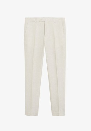 FLORIDA - Suit trousers - ecru