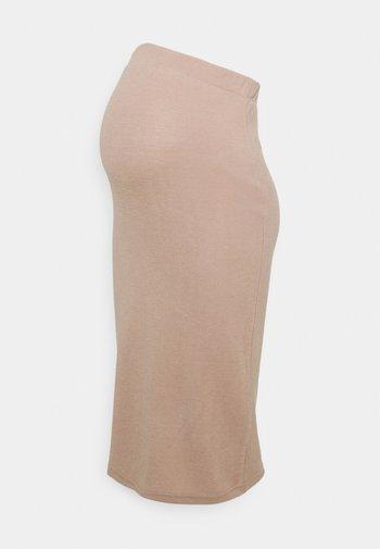 PCMPAM PENCIL SKIRT - Pouzdrová sukně - warm taupe