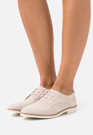 LEATHER - Lace-ups - offwhite