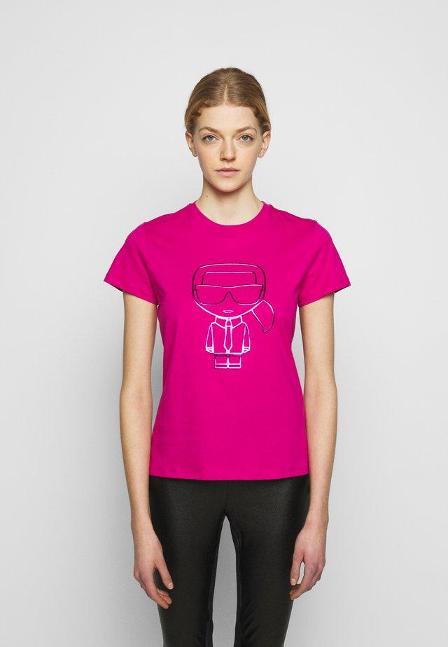 IKONIK OUTLINE  - T-shirt z nadrukiem - pink
