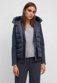 Marc O'Polo - RECYCLED VEST FIX HOOD STAND UP COLL - Waistcoat - midnight blue - 0