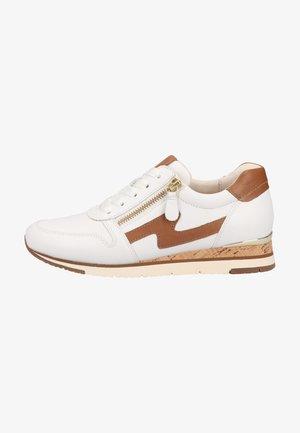 Sneakers laag - weiss/cognac