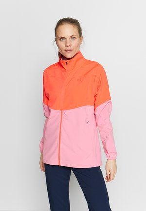 UA WINDSTRIKE FULL ZIP - Regnjakke - beta/lipstick