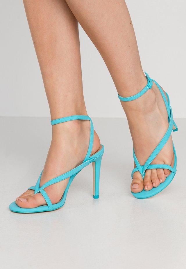 ZELDAA - Sandalen met hoge hak - bright blue