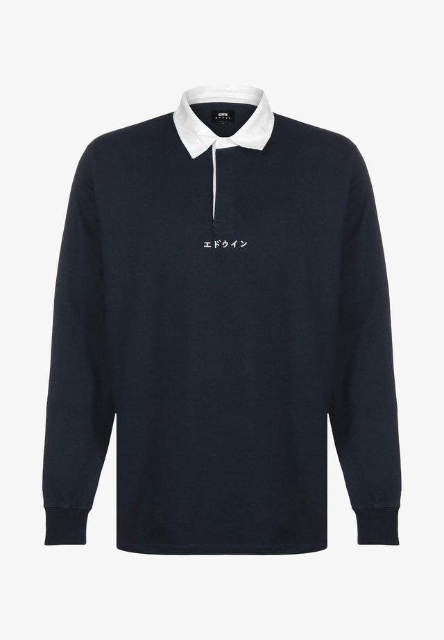Poloshirt - navy blazer garment washed