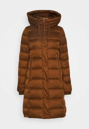 Down coat - chestnut brown