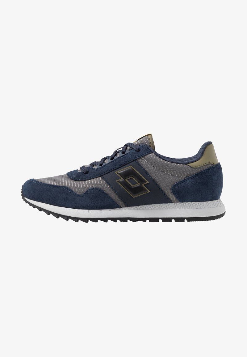 Lotto - RUNNER PLUS - Neutral running shoes - cool gray/all black/dark blue