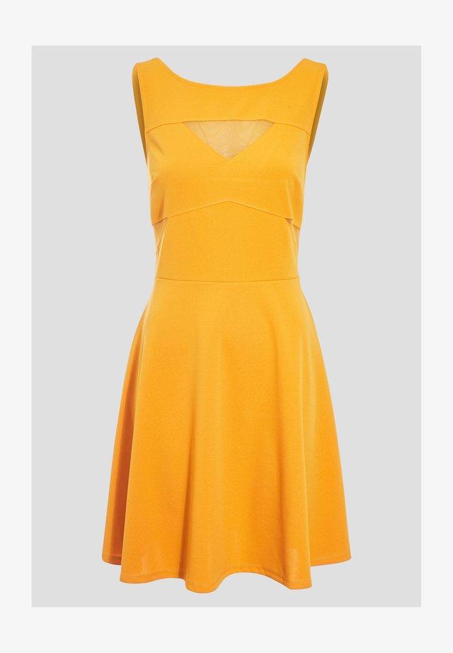 Korte jurk - jaune foncé
