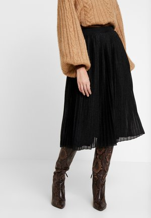 A-line skirt - metallic black
