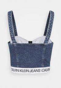 Calvin Klein Jeans - BUSTIER - Blusa - mid blue - 1