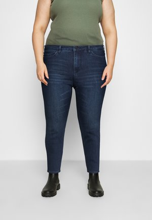 VMLORAEMILIE - Slim fit jeans - dark blue denim