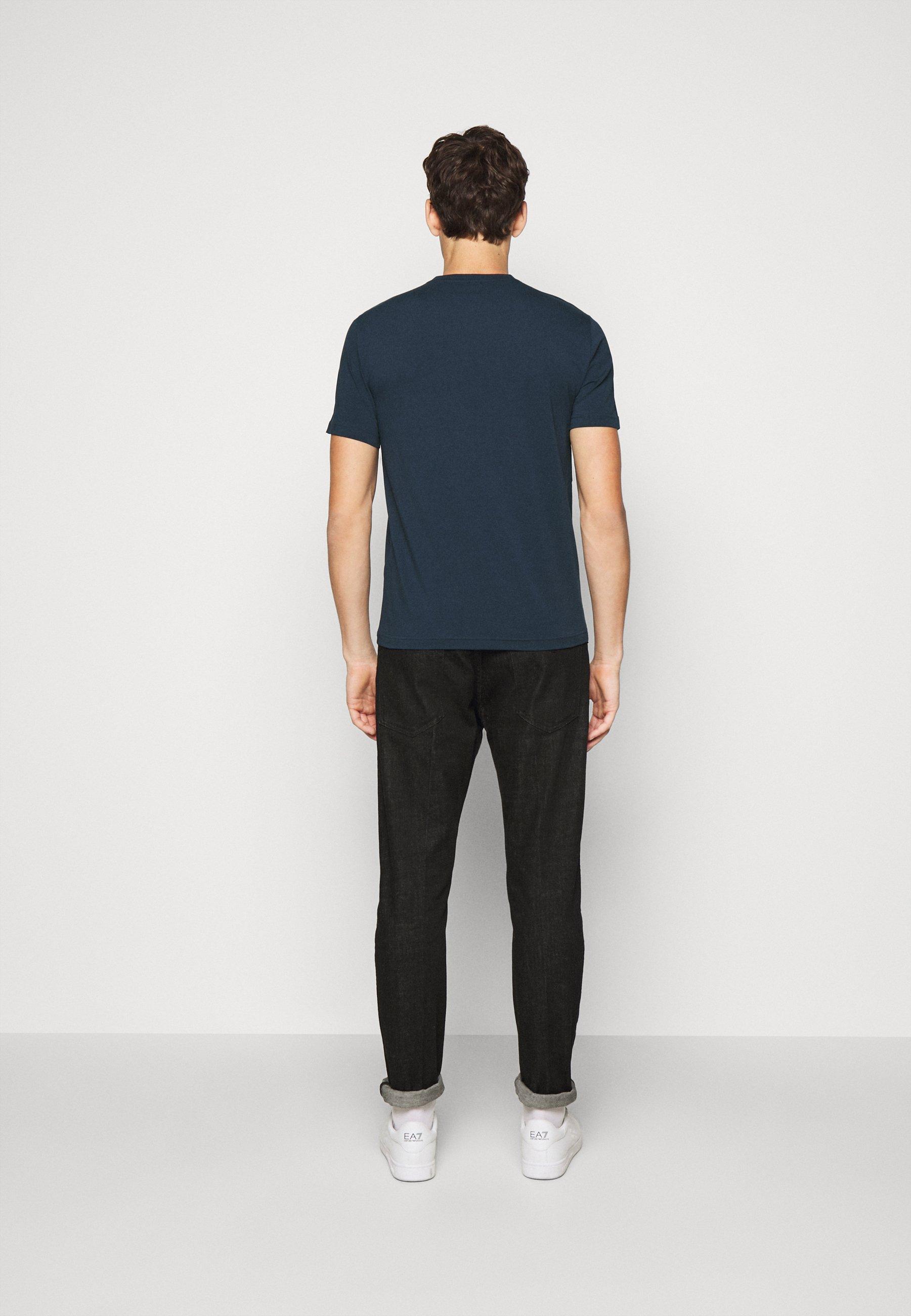 EA7 Emporio Armani Print T-shirt - navy blue 6n2iZ