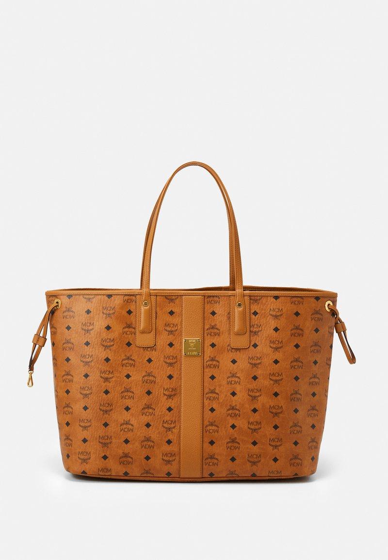 MCM - SHOPPER PROJECT VISETOS SET - Handbag - cognac