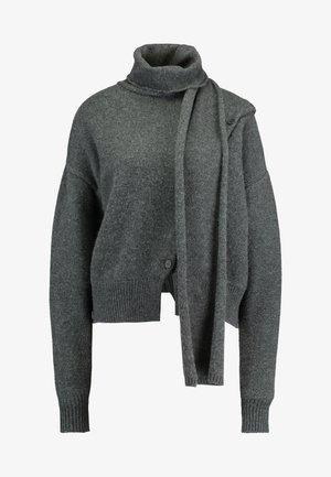 LEIGH - Strikkegenser - dark grey melange