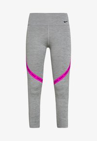 Nike Performance - ONE CROP - Tights - iron grey/fire pink/black - 4