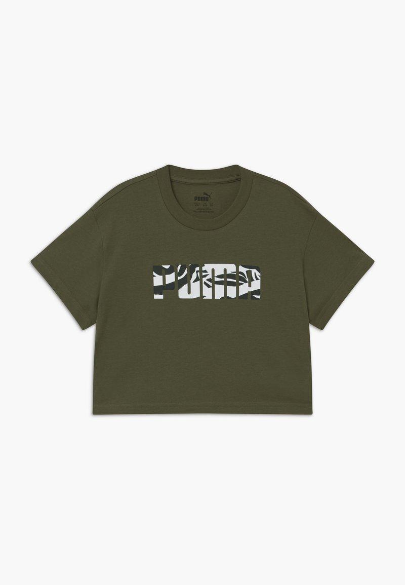 Puma - PUMA X ZALANDO GIRLS TEE - T-shirt print - olive night