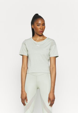 PAMELA REIF X PUM TEE BACK CUTOUT - Print T-shirt - desert sage