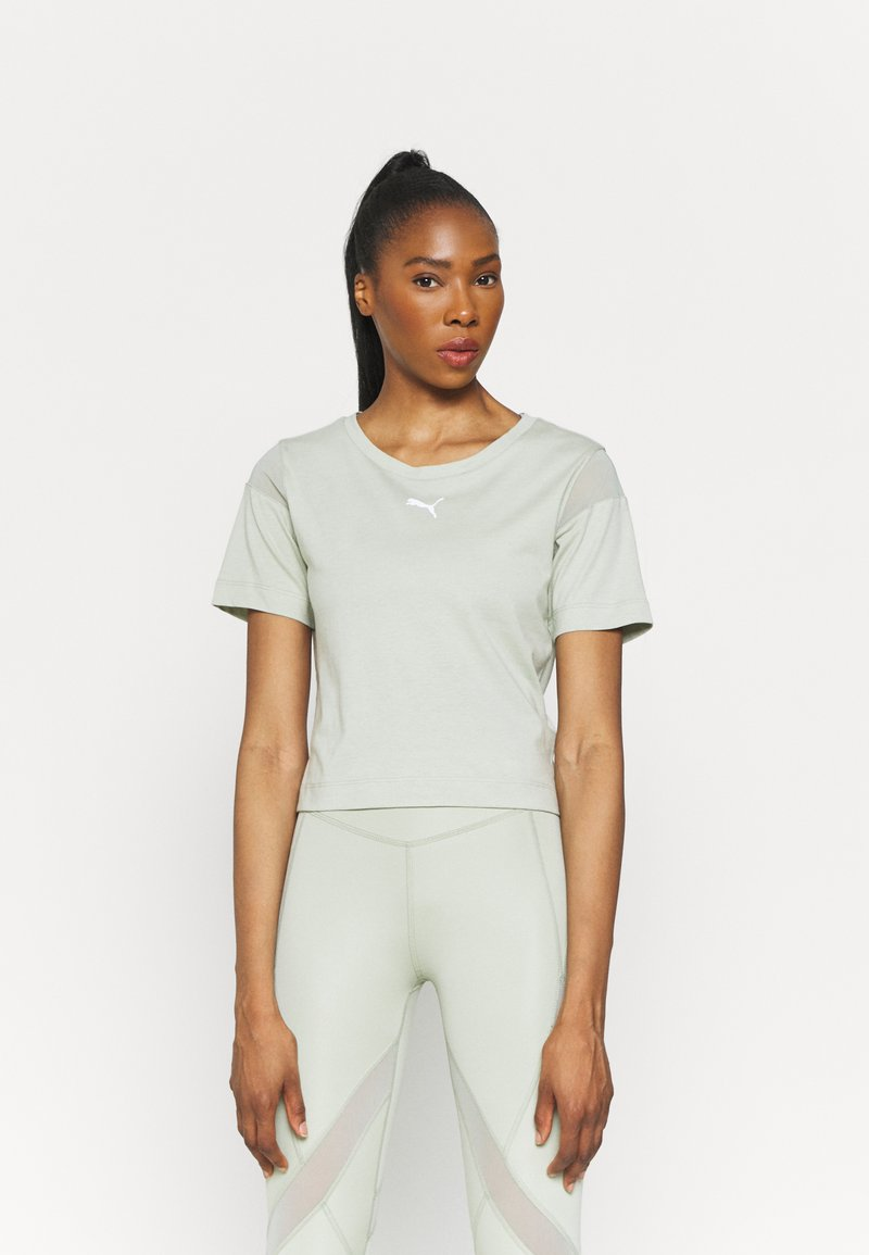 Puma - PAMELA REIF X PUM TEE BACK CUTOUT - Print T-shirt - desert sage