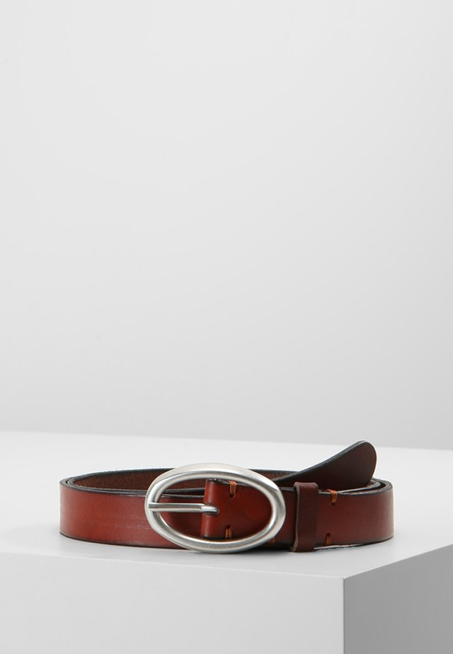 Belt business - cognac/silver