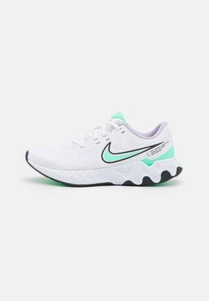 RENEW RIDE 2 - Neutral running shoes - white/green glow/dark smoke grey/infinite lilac/violet shock